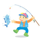 Fishing cartoon Stock Photo