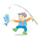 Fishing cartoon Stock Photo