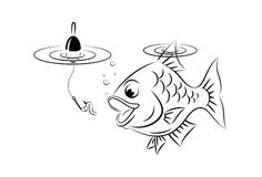 Fishing cartoon Royalty Free Stock Images