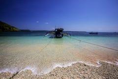 Fishing catamarans on the beach, Nusa Penida, Indonesia Stock Photo