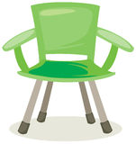 Fishing chair. Illustration of isolated fishing chair on white background Royalty Free Stock Photos