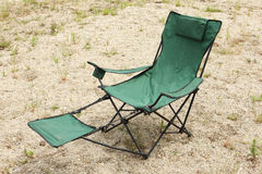 Fishing chair stock photo