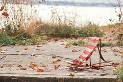 Fishing chairs Royalty Free Stock Photography