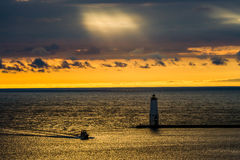 Coming Home to Betsie Bay, Michigan. Stock Image
