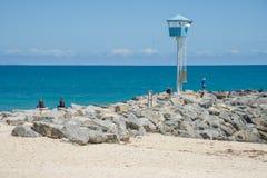 Fishing City Beach Stock Photography