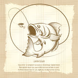 Fishing club emblem design Stock Photo