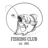 Fishing club logo Stock Images