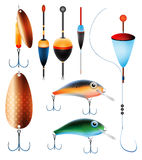 Fishing collection Stock Photos