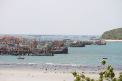 Fishing communities in thailand Royalty Free Stock Images