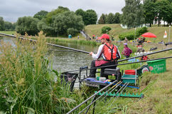 Fishing competition Stock Images