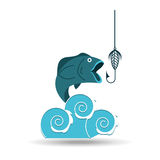 Fishing concept design. Illustration eps10 graphic Royalty Free Stock Photos
