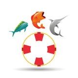 Fishing concept design. Illustration eps10 graphic Stock Image