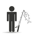 Fishing concept design. Illustration eps10 graphic Royalty Free Stock Images
