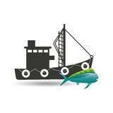 Fishing concept design. Illustration eps10 graphic Royalty Free Stock Photography