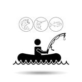 Fishing concept design. Illustration eps10 graphic Stock Photography