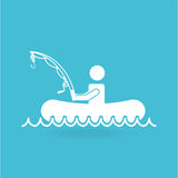 Fishing concept design. Illustration eps10 graphic Royalty Free Stock Photo