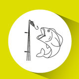 Fishing concept design. Illustration eps10 graphic Stock Image