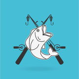 Fishing concept design. Illustration eps10 graphic Stock Images