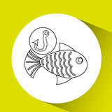 Fishing concept design. Illustration eps10 graphic Royalty Free Stock Image