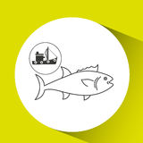Fishing concept design. Illustration eps10 graphic Stock Photos