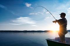 Fishing concepts. Royalty Free Stock Photo