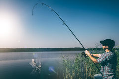Fishing concepts. Royalty Free Stock Images