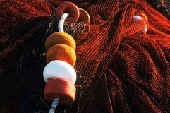 Fishing corks and net stock photo