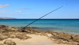 Fishing in Costa Calma, Fuerteventura. Stock Photos