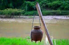 Fishing creel Royalty Free Stock Image
