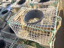 Fishing creels closeup Royalty Free Stock Images