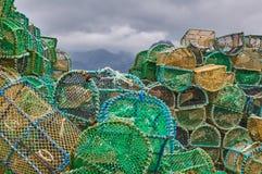 Fishing creels Stock Image