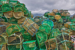 Fishing creels Stock Photos