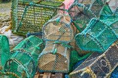 Fishing creels at Elgol port Stock Image