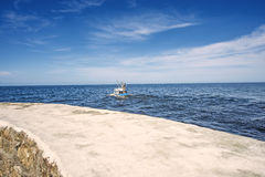Fishing cutter in the Baltic Sea Royalty Free Stock Photos