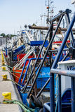 Fishing cutter in a port Stock Image