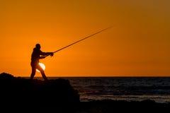 Fishing. At dawn, early summer morning Royalty Free Stock Photography