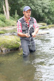 Fishing day stock photo