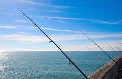 Fishing on deep ocean Royalty Free Stock Photo