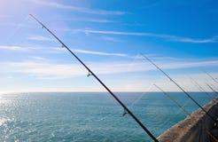 Fishing on deep ocean Stock Photos