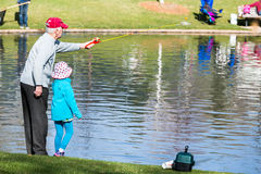Fishing derby. Annual Fishing Derby at Tommy Davis Park, Greenwood Village, Colorado stock photography
