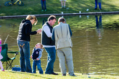 Fishing derby Royalty Free Stock Image