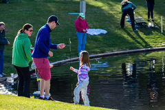 Fishing derby Stock Photography