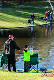 Fishing derby Stock Images