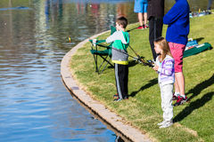 Fishing derby Royalty Free Stock Photos