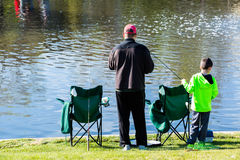 Fishing derby Royalty Free Stock Photo