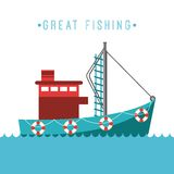 Fishing design Royalty Free Stock Images