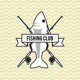 Fishing design. rod and lure illustration Royalty Free Stock Photo