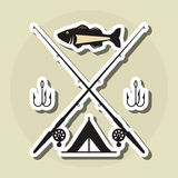 Fishing design. rod and lure illustration Royalty Free Stock Photos