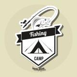 Fishing design. rod and lure illustration Stock Photos