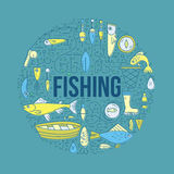Fishing Design Template Royalty Free Stock Photos